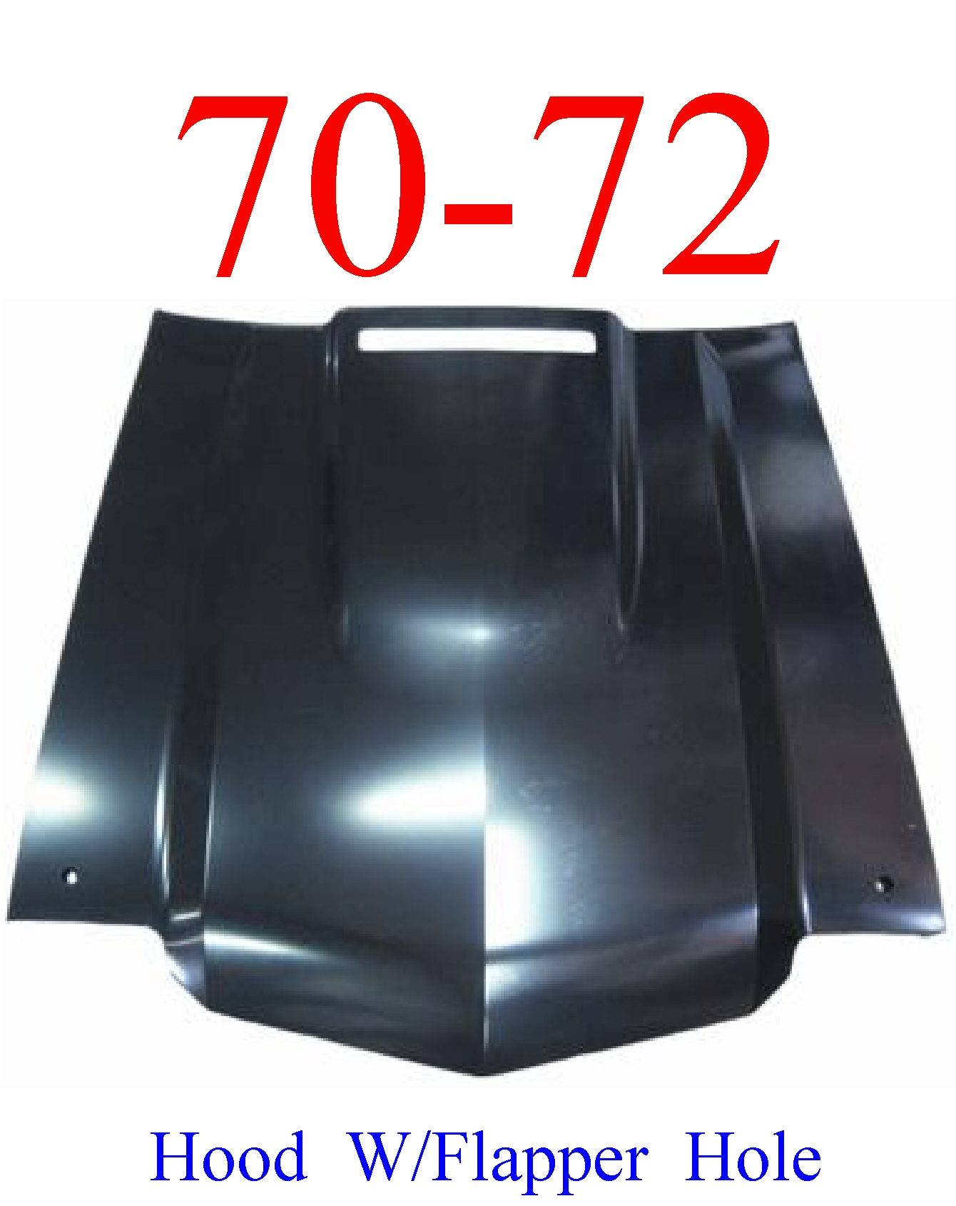 "70-72 Chevy Chevelle SS 2"" Cowl Hood With Flapper Door Hole"